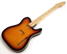 SPECIAL PURCHASE! BOUND Sunburst Tele Style GLUED-IN Setneck, 2 Humbucker Maple F/B