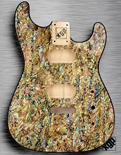 XGP REAL ABALONE SHELL Strat Style Body 2 Humbuckers