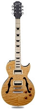 Maple Fingerboard! XV-550 Carved Flamed Maple Top Vintage Natural