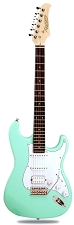 XV-875 Surf Green Kwikplug Equipped HSS Rosewood Fingerboard