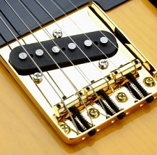 Vintage Style 3 Brass Saddle GOLD Tele Bridge