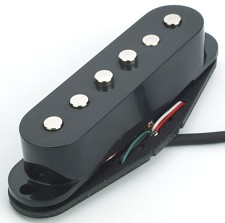 KP - Black NAL Alnico Single PickupS - Thicker, Bolder Tones - Kwikplug Ready