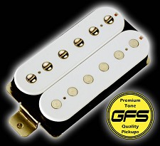 KP - Crunchy Pat high Output Humbucker WHITE Coils - Kwikplug® Ready