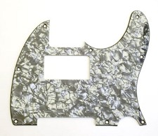 Custom Neck Humbucker PIckguard for Tele Black Pearloid