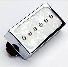 KP - Dream 90 Humbucker SIzed P90 White Pearl/Chrome - Kwikplug® Ready