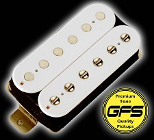 Alnico Fat Pat WHITE Coils- Boutique Alnico Humbucker Neck Position