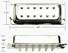 GFS NYIII Surface Mount Humbucker ALnico III White Bridge Position