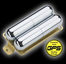 KP - GFS Pro-Tube Lipstick Humbucker Pickup- Cool Chimey Tone, Chrome - Kwikplug® Ready