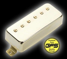 KP - Little Crunchy Mini Humbuckers- Gold Case and trim ring  - Kwikplug® Ready