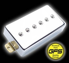 KP - Mean 90- True Alnico  P90 Pickup in Humbucker Case, Our FATTEST: Mean 90, Chrome - Kwikplug® Ready