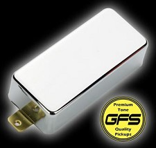 KP - Mini Birds- Covered Mini Humbuckers- Chrome Case - Kwikplug® Ready