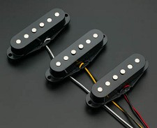 Overwound Strat Set- Reverse Wound- Black- BLOWOUT!