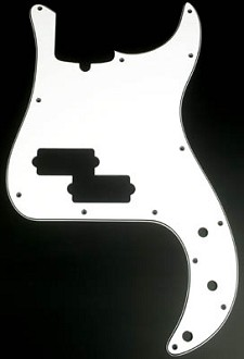 P Bass 3 Ply Pickguard White/Black/White