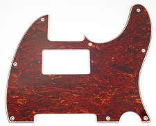 Telecaster Tortoise Shell Pickguard- Cut for Neck humbucker