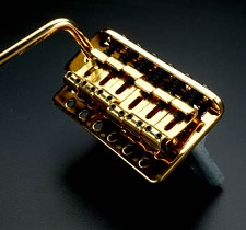 Vintage Gold Tremolo fits Mexican, Korean, Chinese made guitars - Blem