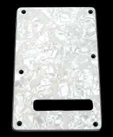 White Mother of Pearl Tremolo Cover Plate Slot
