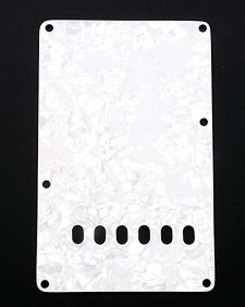White Mother of Pearl tremolo Rear Cover Plate