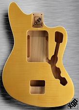XGP Offset Body Double Bound Flamed Maple Vintage Natural