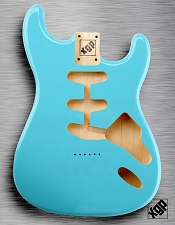 XGP Professional Strat Body Daphne Blue Hardtail!