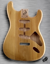 XGP Professional Strat Body Clear Gloss Solid Swamp Ash