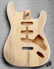 XGP Professional Strat Body Unfinished Solid Swamp Ash
