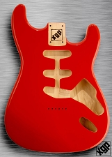 XGP Professional Strat Body Fiesta Red Hardtail!