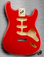 XGP Professional Strat Body Fiesta Red