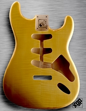 XGP Professional Strat Body Vintage Natural Flamed Maple