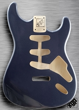XGP Professional Strat Body Gunmetal Grey Metallic  - Blem