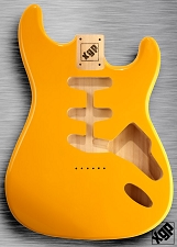 XGP Professional Strat Body Monaco Yellow Hardtail!
