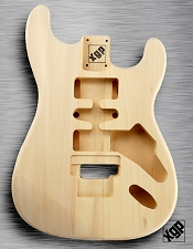 XGP Professional Strat Body Unfinished  Poplar Floyd Routed