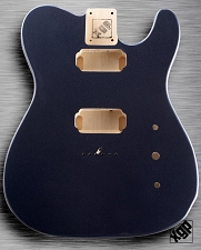 XGP Professional Tele Body 2 Humbuckers Charcoal Grey Metallic