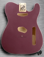 XGP Professional Double Bound Tele Body Burgundy Mist Metallic - Blem