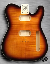 XGP Professional Tele Body 2 Humbuckers Flamed Maple Sunburst - Blem