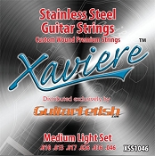 Xaviere Stainess Steel Strings Medium Light Gauge