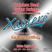 Case of 12 Sets - Xaviere Stainess Steel Strings Extra Light Gauge