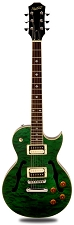 XV-550 Semi Hollow Carved Maple Quilt Top Transparent Green