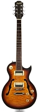 XV-550 Semi Hollow Carved Quilt maple Top Tobacco Sunburst