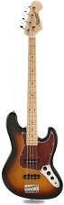 JB Bass Alder Body Maple Neck Sunburst Maple Fingerboard