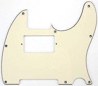 "Tele Neck Humbucker Pickguard ""1964 Aged White"""