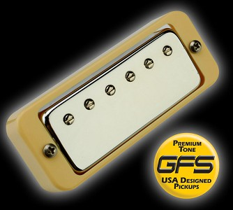 KP - Mini Crunchy Humbucker, CREAM rings - Kwikplug® Ready