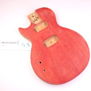 "Unfinished, Red, ""LP Style Body"", HH - LEFTY"
