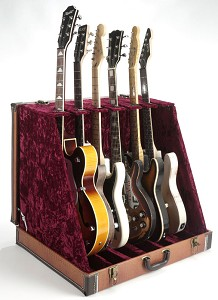 "Premium Tan ""Hornback Alligator""  6 Guitar Case- Folds to Briefcase! OUR BEST!"