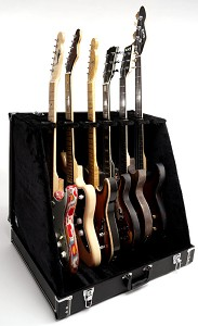 Premium Black 6 Guitar Case- Folds to Briefcase! OUR BEST!