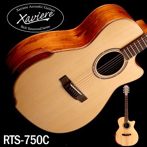 Xaviere ALL WOOD Premium Cutaway Spalted Maple, Solid Spruce Top