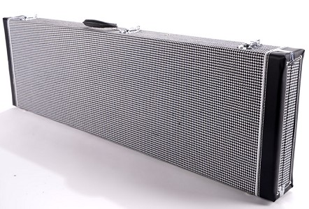 "PREMIUM Cloth ""1969 Camaro RS Houndstooth"" P/J Bass Hardshell  Case-  Our Best!"