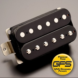 KP - Alnico Fat Pat Boutique Humbucker, Black - Kwikplug® Ready