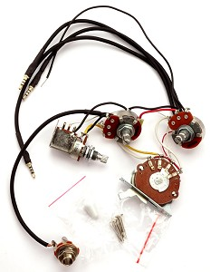 Kwikplug HSS Strat Humbucker Coil Tap Switching Wiring Harness- PRE-SOLDERED Drop-In