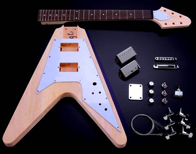 "Vintage  V Kit- Mahogany Body Maple Neck with Rosewood Fingerboard, ""Arrow"" Headstock"