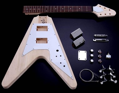 "Vintage  V Kit- Poplar Body Maple Neck ""Arrow"" Headstock"